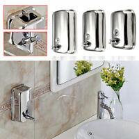 500-1000ml Steel Wall Mounted Soap Shampoo Dispenser Pump For Bathroom Kitchen