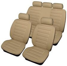 BMW 5 Series Gran Turismo - Full Set of BEIGE Leather Look Car Seat Covers