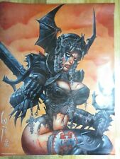 SIMON BISLEY WARRIOR BABE  HEAVY METAL 18x24 POSTER   2008  RARE