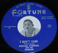 Doo Wop 45~NOLAN STRONG~I Don't Care / Blue Moon~Fortune 544