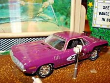 "1971 71 PLYMOUTH CUDA 383 LIMITED EDITION 1/64 PURPLE M2 ""ZEX""  NITROUS RACE CAR"