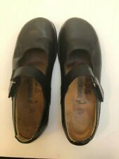 Footprints BIRKENSTOCK Black Leather Mary Janes Flats Shoes Womens Size 38 7.5
