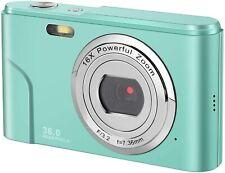 Mini Digital Camera with Full Hd 1080p 2.4 Inch and 16x Digital Zoom LCD (Green)