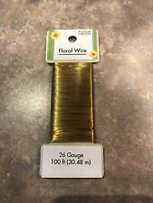 100 Ft 26 Gauge Gold Floral Wire - Floral Garden