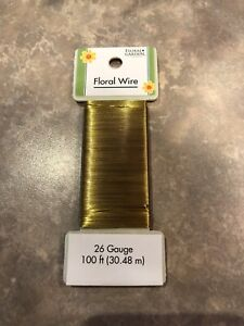 100 Ft 26 Gauge Gold Floral Wire - Floral Garden