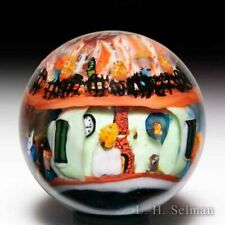 "Greg Chase 2010 ""French Quarters"" murrine with skulls glass marble"