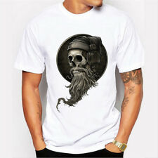 Short Sleeve T-shirt Men's Basic Modal Tops New Tee Casual Workout Skull Shirt