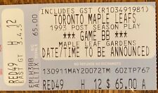 Toronto vs St Louis May 5 1993 PLAYOFFS GAME 2 double OVERTIME jeff brown winner