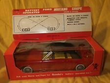 """Vintage NOS 1960s """"Made In Japan"""" Bandai Battery Operated 1965 Tin Mustang Coupe"""