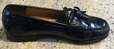 Cole Haan men's black leather tassel loafers slip on shoes size 8D