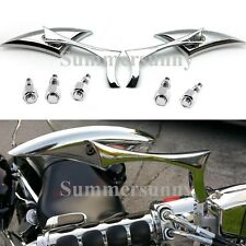 BLACK CHROME MOTORCYCLE REARVIEW MIRRORS FOR HARLEY DAVIDSON XL SPORTSTER 1200