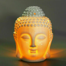 Thai Buddha Oil Burner Buddah Head Wax Melts Ornament Spa Ceramic Tea Light Gift