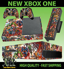 XBOX ONE Console AUTOCOLLANT MARVEL DC ACTION HERO Super Héro Skin & 2 Pad