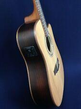 Klema Solid Cedar Top Dreadnought Electric-Acoustic Guitar,EQ+Free Bag.K300DC-CE