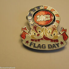 Disney Flag Day 2013 Chip and Dale Pin
