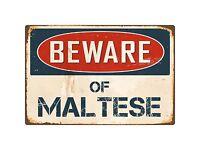 "Metal Sign Parking For Maltese 8"" x 12"" Aluminum NS 449"