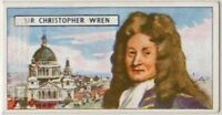Christopher Wren English Anatomist  Astronomer Architect Vintage Ad Trade  Card