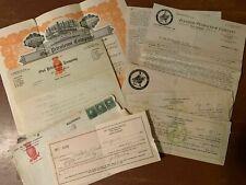 Enid OK Oil Stock Certificate & Ephemera ~ Owl Petroleum Co. & Ivanhoe Petroleum