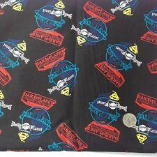 "Superman logo daily  planet  retro comics fabrics 18"" x 22"" super hero fabric"