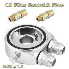 Universal Aluminum Oil Cooler Adapter 18 NPT Filter Sandwich Plate M20 x 1.5