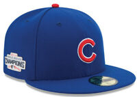 Chicago Cubs New Era 2016 World Series Champs Patch 59FIFTY Fitted Hat Cap 7 7/8