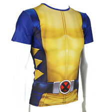 Men Marvel Wolverine Short Sleeve Costume Fitness T-Shirt Bicycle Jersey Tops