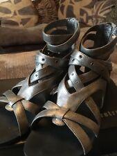 Firetrap Vortex leather sandals, Silver Metal - size 38