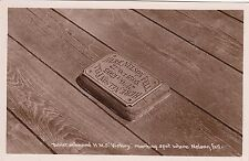 Post Card  of Tablet onboard HMS Victory marking spot where Nelson Fell
