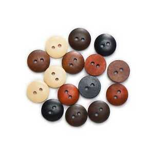2 Hole Round Wooden Buttons for Sewing Scrapbook Clothing Crafts Gift 10-25mm