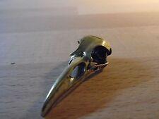 Collana con Ciondolo in ottone Raven BIRD Skull Hi Qualità wicca Biker