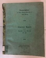 1940 Records Colporteur Reports American Tract Society 1841-1846 New Jersey