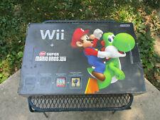 VTG Nintendo Wii Black Super Mario Bros. Video Game Console Empty Box Only