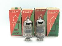 2x 6N3P (6CC42, 2C51, 6385, ECC42) DOUBLE TRIODE (NEW, NOS, BOXED) old stock