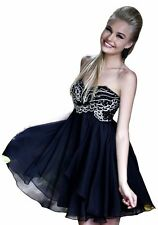 AUTHENTIC SHERRI HILL BLACK SZ16 SHORT GOWN FORMAL PROM PAGEANT DRESS #3880 NWT