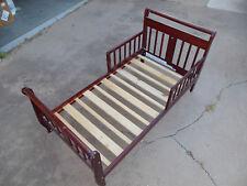 TODDLER BED WITH MATTRESS WOOD GIRL BOY FURNITURE BEDROOM CHILD SAFTEY RAILS