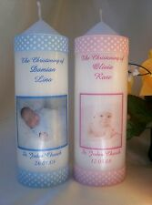 Personalised Candle Christening Baptism Naming Day small