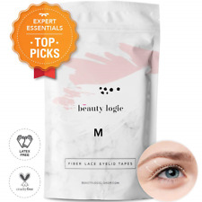 Beauty Logic Ultra Invisible Fiber Lace Eyelid Lift Kit-120pcs Medium Latex - or
