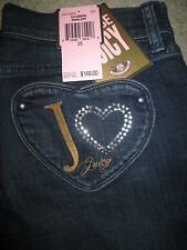 The Penelope By Juicy Couture Heart Pocket Straight Stretch Jean Women Sz 26 New