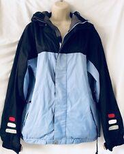 Betty Rides Womens Medium All Mountain Series Ski Snowboard Jacket Blue Black M