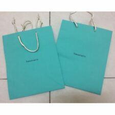 Tiffany & Co Blue Paper Shopping Gift Bag, PAIR