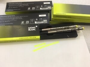 MONTBLANC Pack of 2pcs Document marker/ Highlighter, Color Yellow #105158 - New