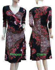 Regular Polyester Casual Wrap Dresses for Women