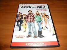 Zack and Miri  (DVD, 2009, 2-Disc Widescreen) Seth Rogen Used (Make A Porno)
