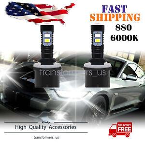 2PCS 880 890 892 893 899 100W 6000K Xenon White CREE LED Fog Light Driving Bulbs