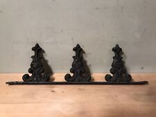 Antique Cast Iron Roof Crests Finials Salvaged Fence Pieces Industrial -3 Posts
