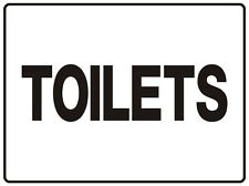 """WAYFINDER / DIRECTIONAL SIGN TOILETS 5mm corflute 300MM X 225MM"""""""