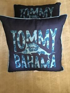 """Tommy Bahama Indoor Outdoor 2 Pack Pillow 20"""" X 20"""" Blue New"""