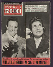 SORRISI 16/1958 CLAUDIO VILLA TORRIELLI EDDIE CONSTANTINE FERRIO ARNOVA DORELLI