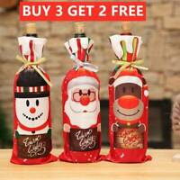 Red Wine Bottle Cover Bag Snowman Santa Claus Christmas Decor Table Xmas Gift