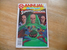 DC COMICS PRESENTS ANNUAL #4 (6.0 FN) 1985 - SUPERMAN & SUPERWOMAN @ LUTHOR-CON!